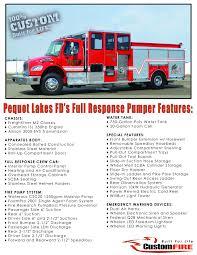 pequot car dealership full response pumper u2013 customfire