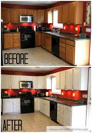 how to refinish painted kitchen cabinets spray painting kitchen cabinets before and after functionalities net