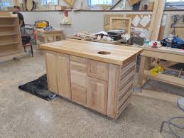 kitchen island trash kitchen island progress fully constructed minus the handles