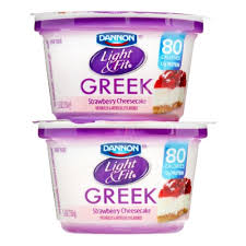 dannon light and fit greek dannon light fit nonfat greek yogurt strawberry cheesecake 5 3