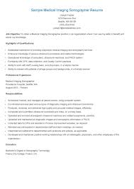 Uiuc Resume Ultrasound Technician Resume Free Resume Example And Writing