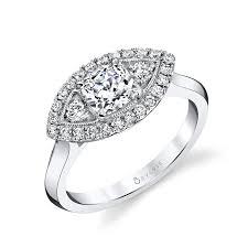 marquise halo engagement ring unique cushion with marquise halo engagement ring