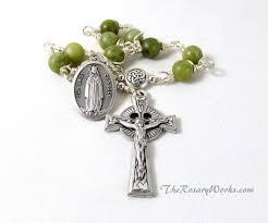 connemara marble rosary strengthen your brethren our of knock rosary green connemara