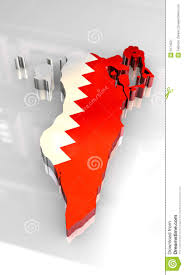 map of bahrain 3d flag map of bahrain stock image image 5174521