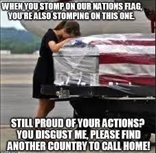 American Flag Meme - illinois teacher on leave for stomping on american flag in front