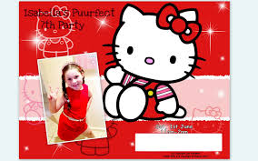 Invitation Card Hello Kitty Card Archives Party Themes Inspiration