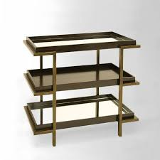 Etagere Antique Brass 3 Shelf Etagere