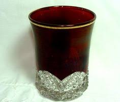 Red Glass Vases And Bowls Lg Wright Ruby Hobnail Rose Bowl Art Glass Vintage Vase Glass