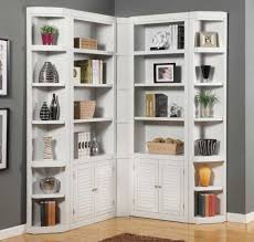 Bookcase With Doors White by Inspiring White Corner Bookcase With Smart And Creative Design
