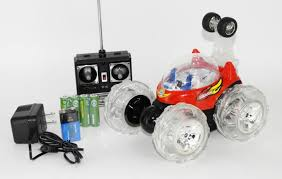 stunt car turbo rc remote lights up w battery pack