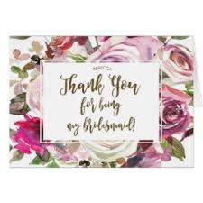 thank you bridesmaid cards thank you for being my bridesmaid cards greeting photo cards