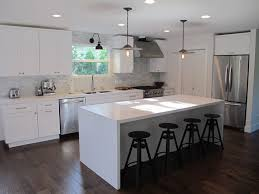 white kitchen island interior design
