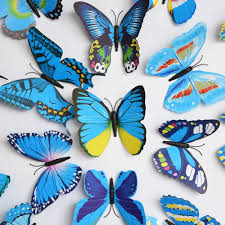 Butterfly Wall Decals For Kids Rooms by Elecmotive 12 Pcs Purple 12 Pcs Blue 3d Butterfly Stickers