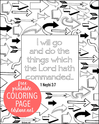tithing coloring page scripture coloring page i will go and do