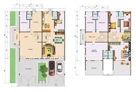 2 Story Modern House Floor Plans by Extraordinary Double Story House Floor Plans 60 In Home Remodel