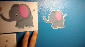 bobee baby elephant wall decor nursery room decals 5 pack review