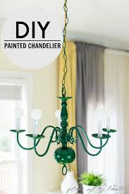 Painted Chandelier Painted Chandelier One Room Challenge Week 2 Place Of My Taste