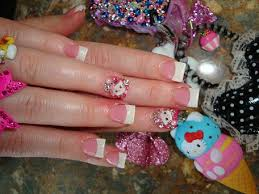 hello kitty 3d french nail art archive style nails magazine