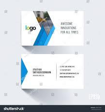 business card template blue abstract arrow stock vector 438674788