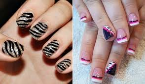zebra pattern nail art animal fantasy comes alive with zebra print nail art