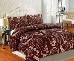 tache melted gold brown rose pink swirl floral duvet cover set