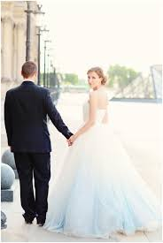 Designer Wedding Dresses Online Discount Ombre Wedding Dress Light Blue White Sweetheart Backless