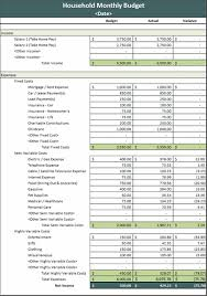 Excel 2007 Budget Template Monthly Household Budget