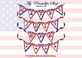 4th Of July Bunting Decorations Printable Party Decorations
