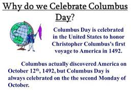 christopher columbus admiral of the sea why do we celebrate