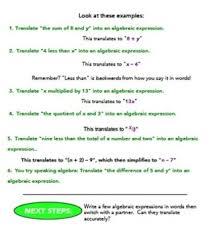 learn how to speak algebra vocabulary worksheet by ms sewell u0027s class