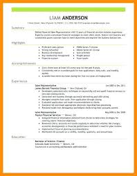 Resume Template For Sales Position Sample Of Resume For Sales Representative Sales Representative Job