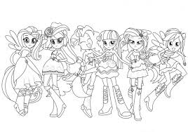 coloring book equestria girls coloring pony