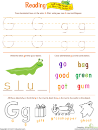 get ready for reading all about the letter g worksheet