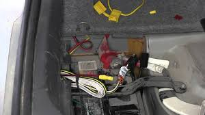 installation of a trailer wiring harness on a 2008 volvo s60