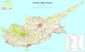map of cyprus large detailed tourist map of cyprus