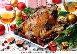 thanksgiving roasted turkey on festive stock photo