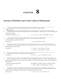 chapter systems of particles and conservation of momentum