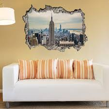wall stickers uk wall art stickers kitchen wall stickers ws9057 view through the 3d wall empire tower day
