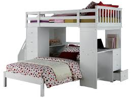 Twin Bedroom Furniture Set by Acme Freya Loft Bed Set With Twin Bed In White 37145 37152