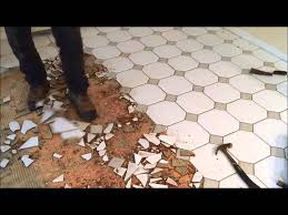 diy how to remove ceramic tiles on plywood floors youtube