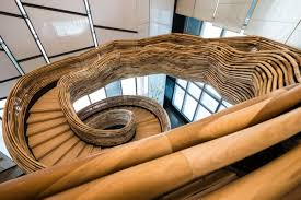 this crazy staircase looks like a tornado business insider