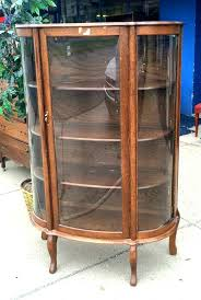 antique curved glass china cabinet ebay antique curved glass china