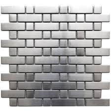 stainless steel mosaic tile backsplash stainless steel backsplash a metal mosaic wall tile shop