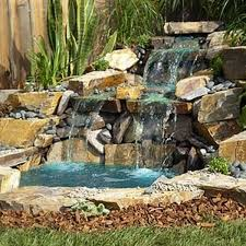outdoor home waterfalls backyard and yard design for village