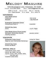 Beginner Acting Resume Template Child Actor Resume Format 12 Fresh Design Child Actor Resume 2