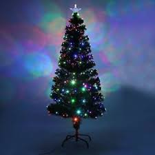tree green pre lit led fibre optic festive