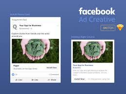 facebook ad creative template freebie download sketch resource