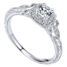 vintage halo engagement rings 14k white gold 37cttw vintage halo engagement ring
