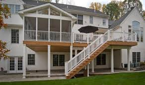 Backyard Porches And Decks by Columbia Sc Deck And Patio Combinations Custom Decks Porches