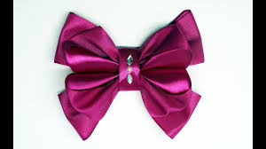 hair ribbon diy crafts how to make simple easy bow ribbon hair bow tutorial